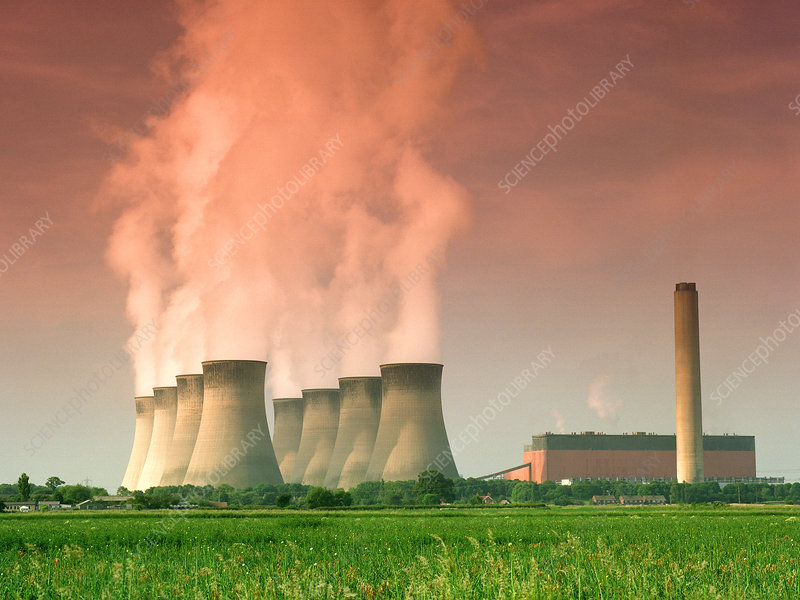 Power station cooling towers