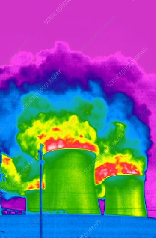 Cooling towers, thermogram