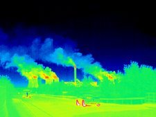 Power station, thermogram