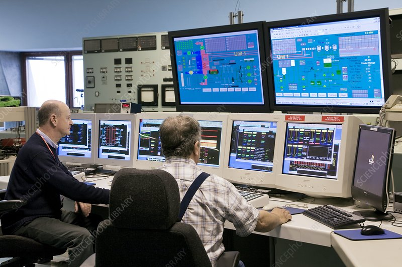 Control room, Fawley power station, UK