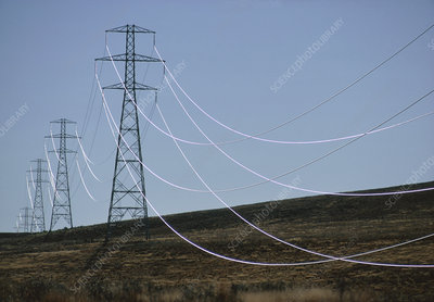 Power lines, Omarama, New Zealand