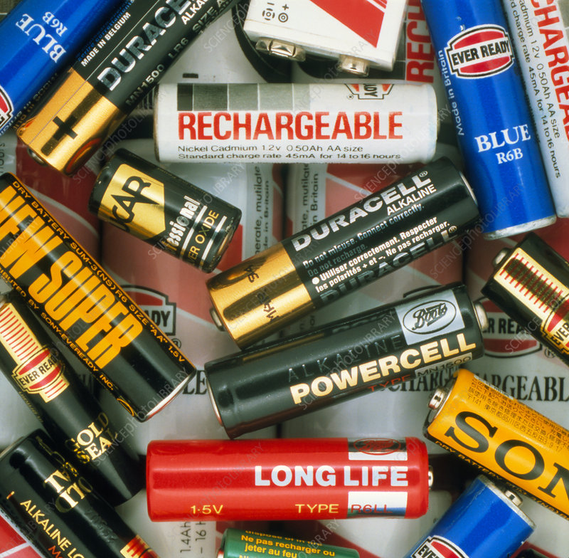 An assortment of batteries