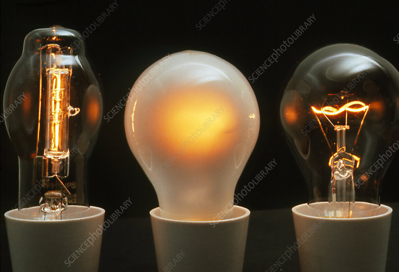 Halogen And Normal Incandescent Light Bulbs Stock Image T194 0244 Science Photo Library