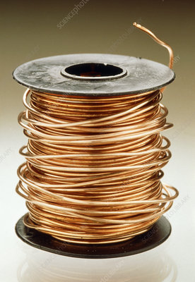 Reel of uninsulated copper wire