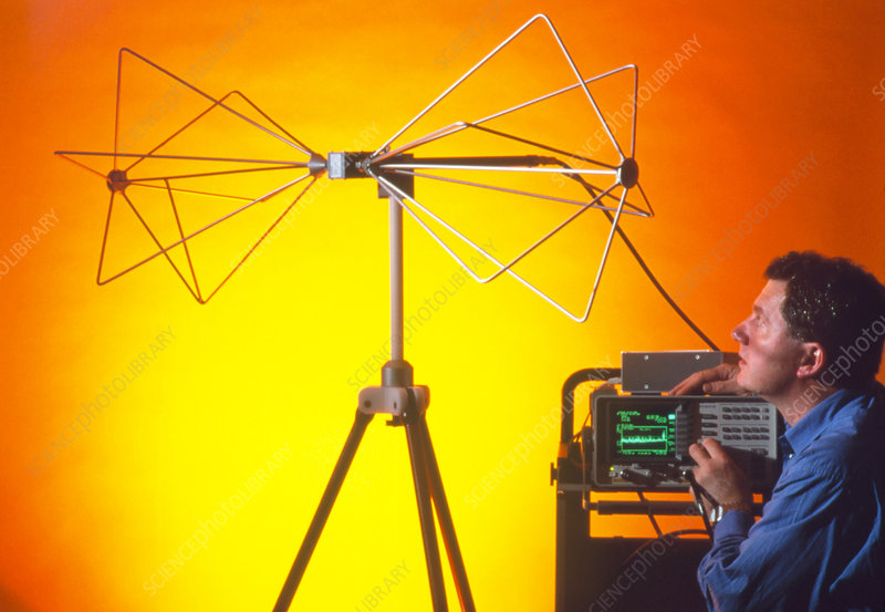 Antenna for measuring electromagnetic fields