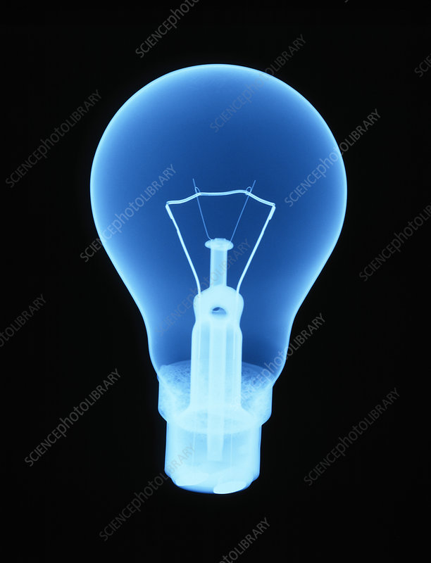 X-ray of light bulb