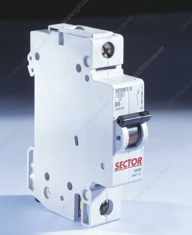 Switch-operated circuit breaker