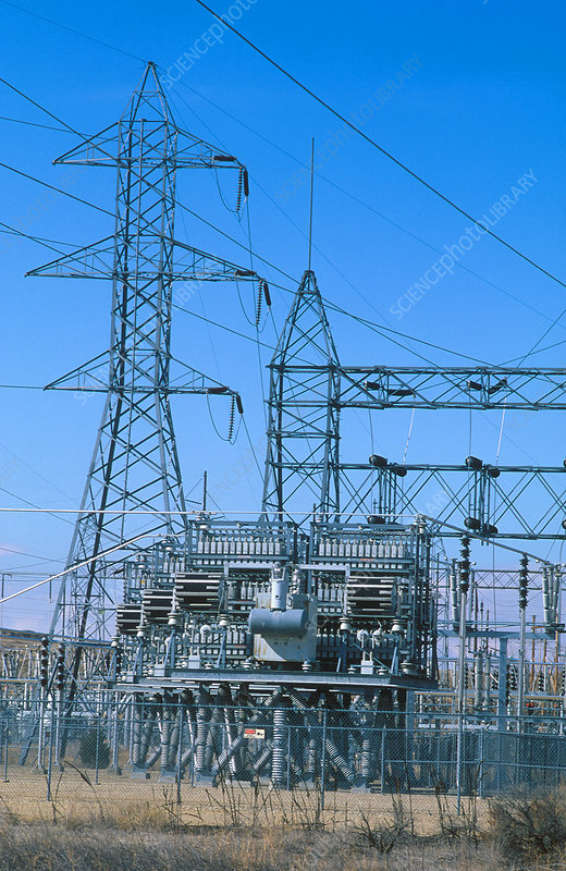Power sub-station and transformers