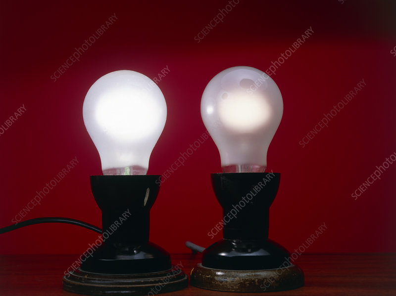 Electric light bulbs, different voltages