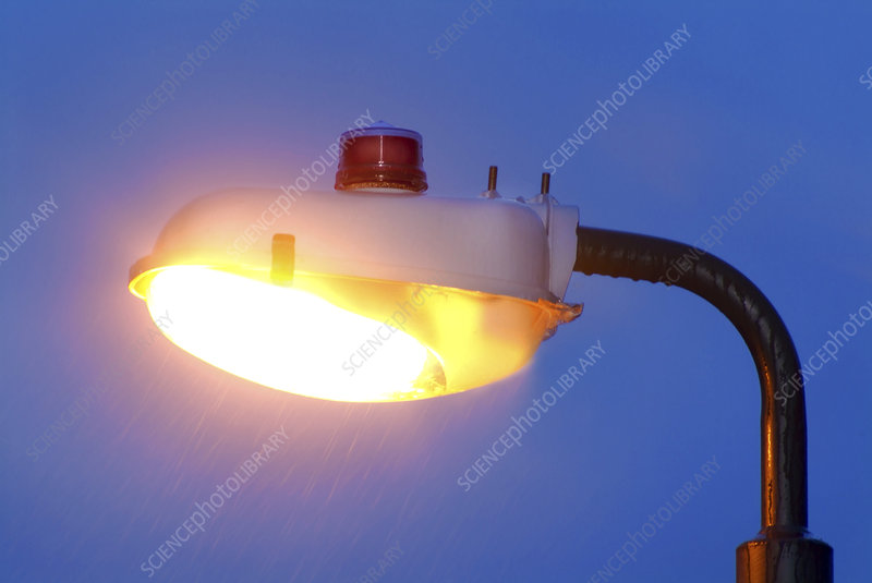 Street lighting with photoelectric switch