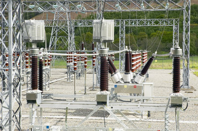 Hydroelectric power substation