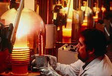 Manufacture of YAG crystals for lasers