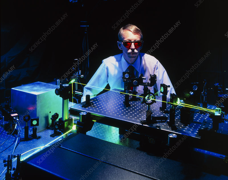 Technician with the Free Electron Laser