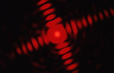 Neon laser diffraction pattern