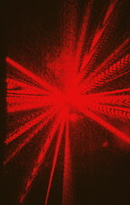 Diffraction patterns from helium-neon laser
