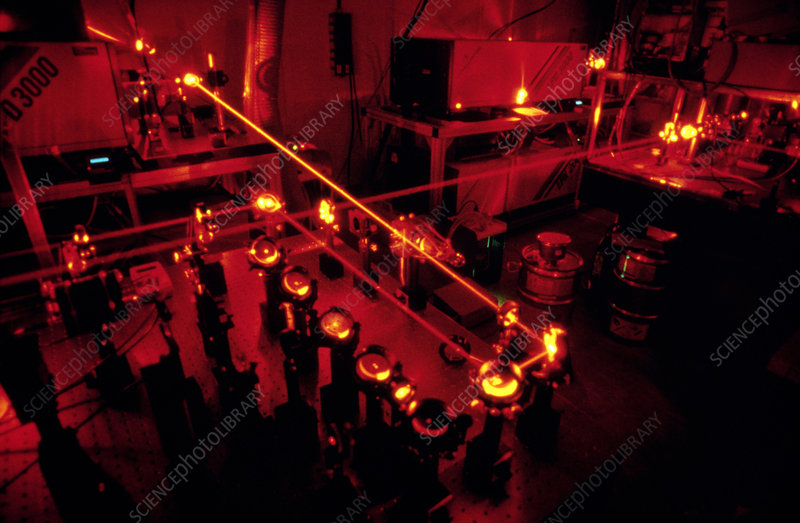 Laser equipment used in antimatter research