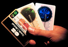 Security holograms on credit cards