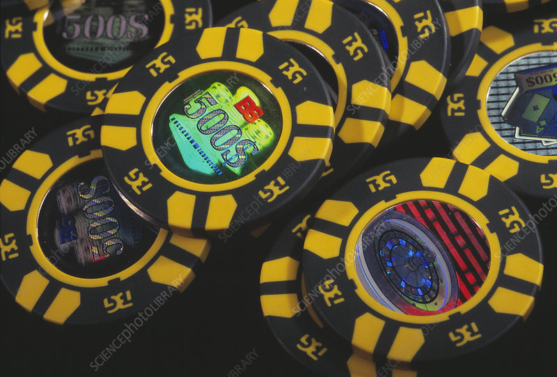 Casino chip forgery