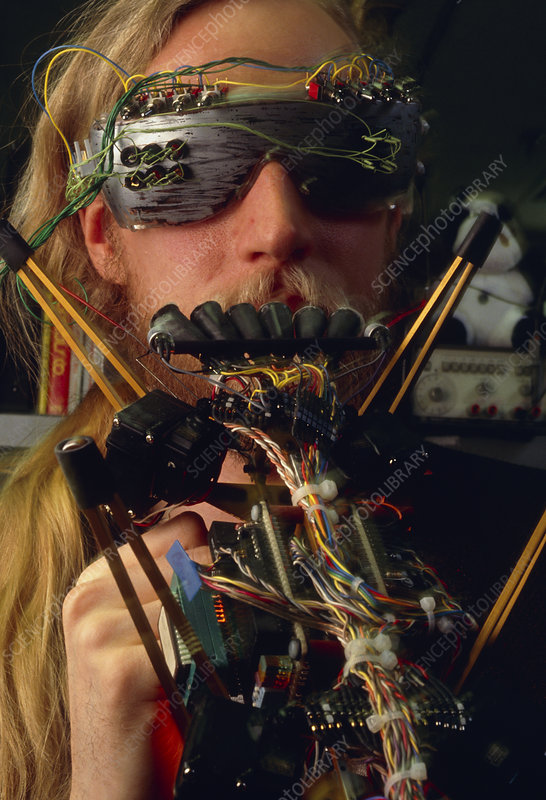 MIT scientist with robot insect 'Genghis'