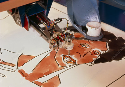 Robotic artist producing a painting