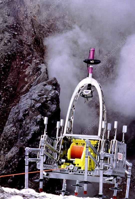 Dante 2 volcano robot Stock Image T250 0476 Science