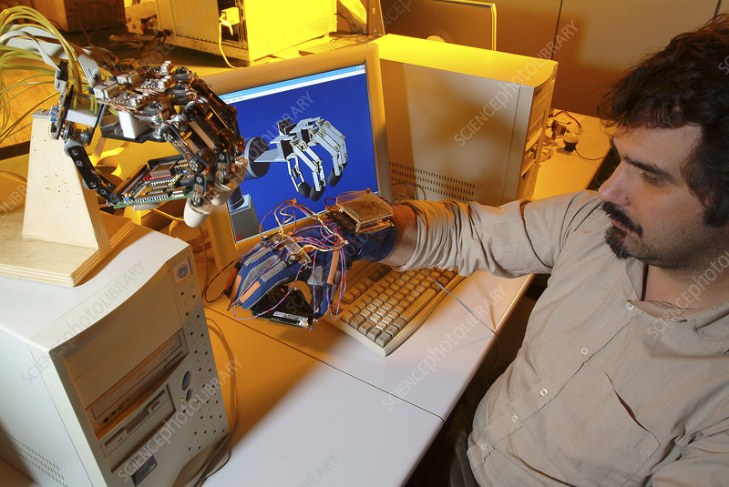 Robotic hand control system