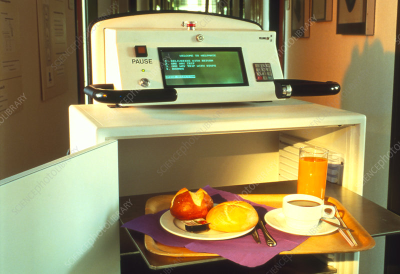 The Helpmate, a robot which serves hospital food
