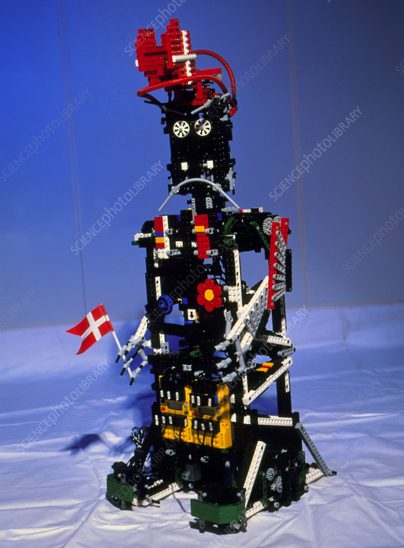 Lego Humanoid Robot Known As Elektra Stock Image T260 0086