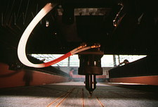 Laser scissors used in textile industry
