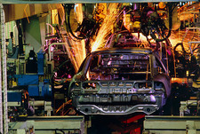 Robotic welding on car production line