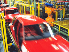 Robotic car production line
