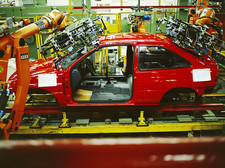 Car production line robots
