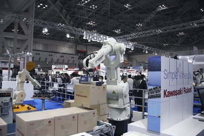 Industrial production line robot, Japan