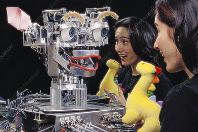 Kismet robot with researcher