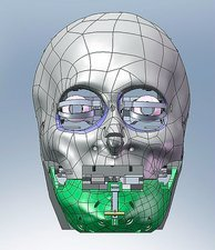 Robot head, computer artwork