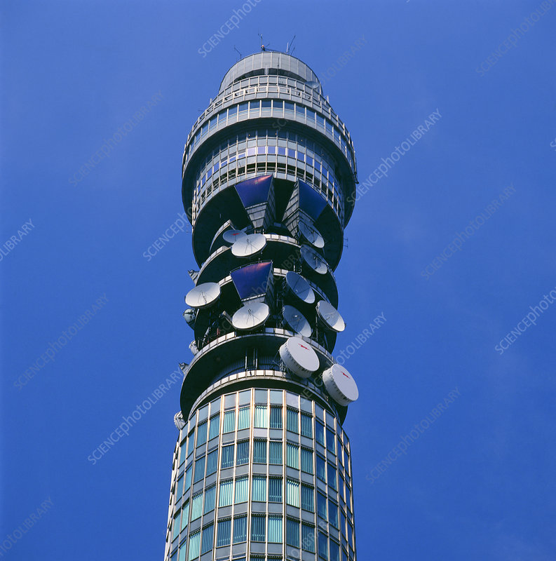 Relay aerials at top of British Telecom Tower