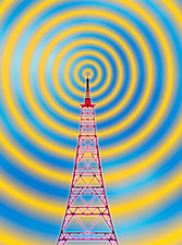 Computer image of radio transmission