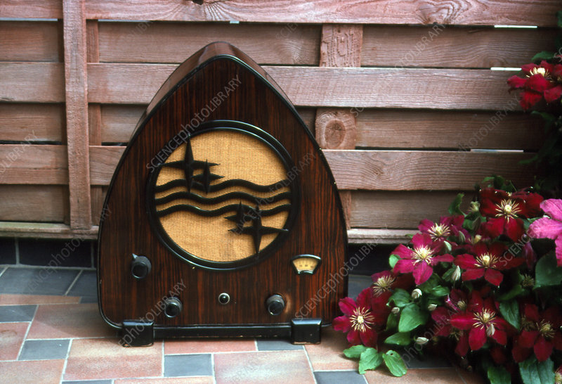 Wooden radio, Philips 930A, 1931 Dutch