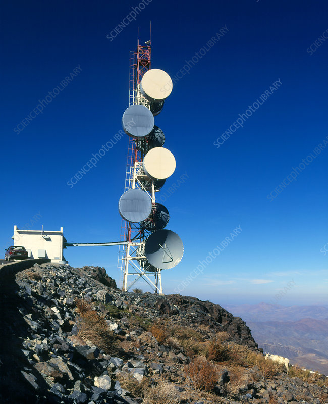 Telecommunications tower La Silla Chile