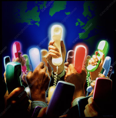 Conceptual image of global communication