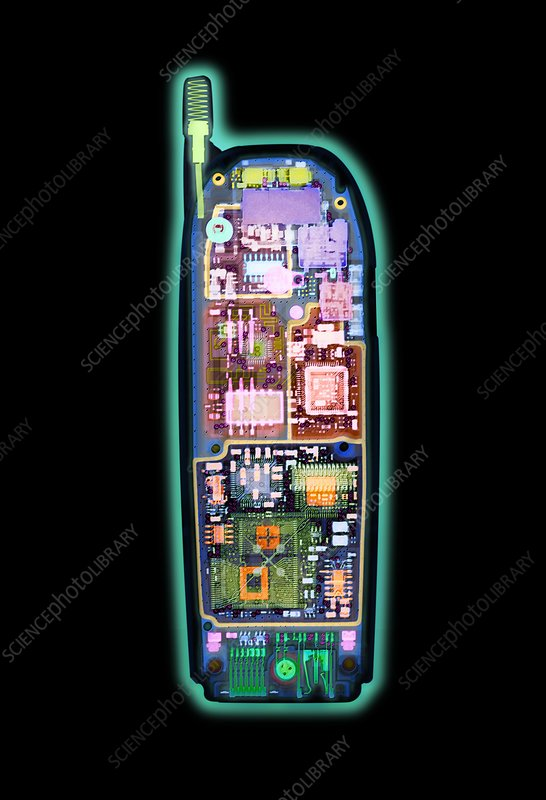 Mobile phone, X-ray