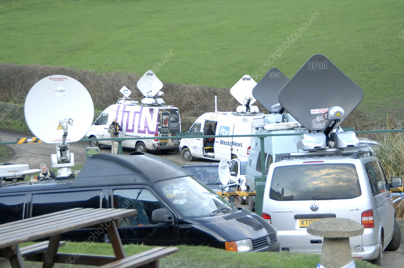 TV news satellite vans