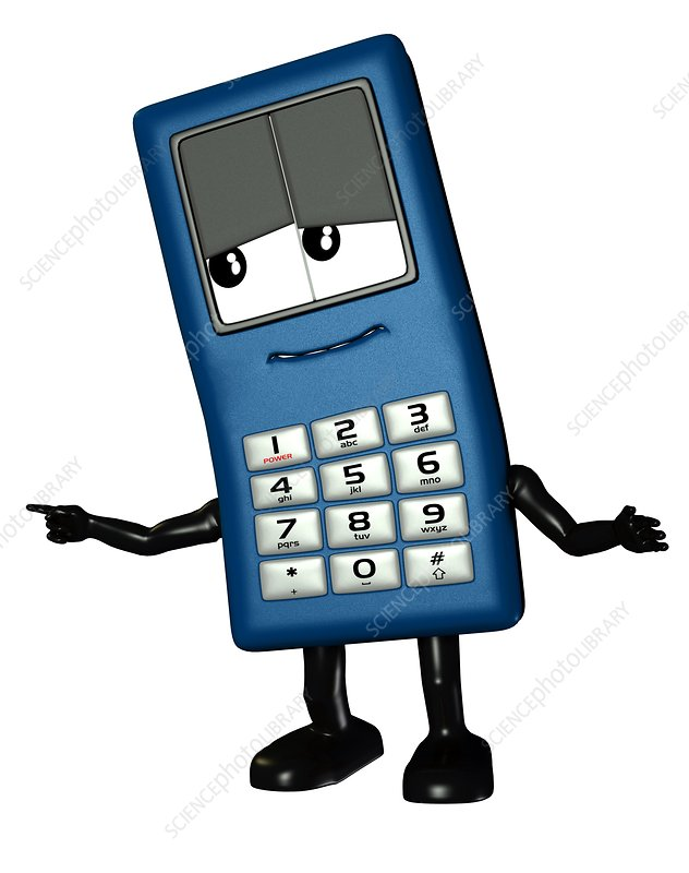 Mobile phone cartoon character