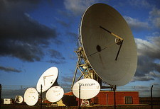 Satellite receiving dishes