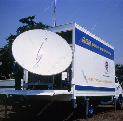 Outside broadcast mobile satellite ground station