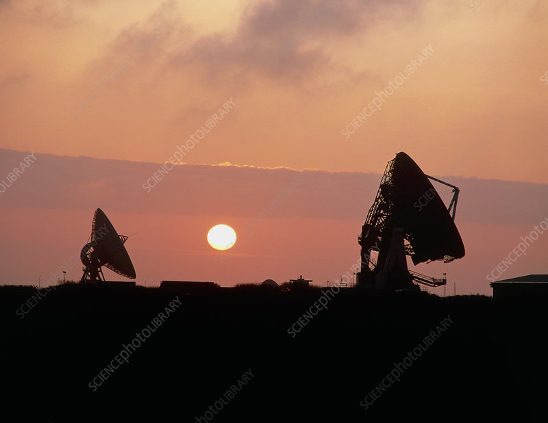 Goonhilly Satellite Earth Station, Cornwall, UK.