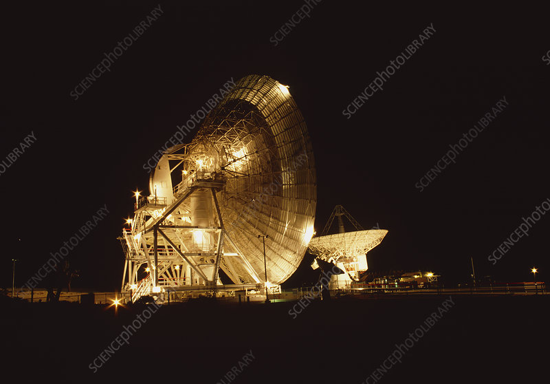 Goldstone radio dishes, 34 and 26 metre