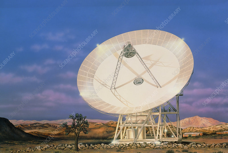 Illustration of the 34m antenna at Goldstone, USA