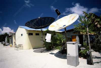 Rural satellite dishes