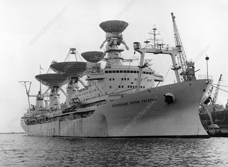 Radio antennae on a Soviet ship